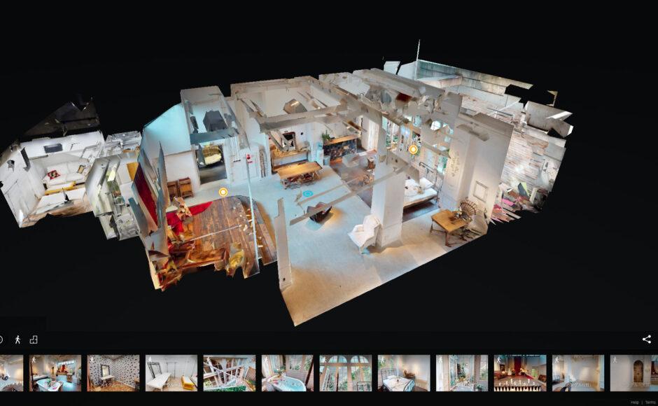 もはやロケハン不要?!<br>3Dビューの360°の全天球写真と立体見取り図でレンタル撮影スタジオの内部空間を<br>バーチャル体験する